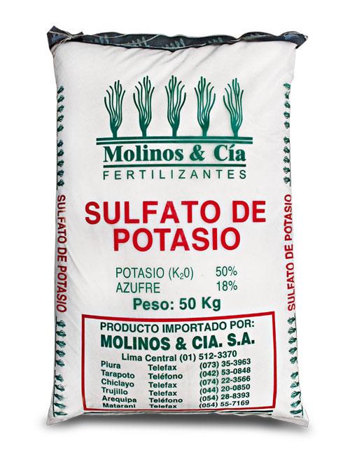 sulfato de potasio usos