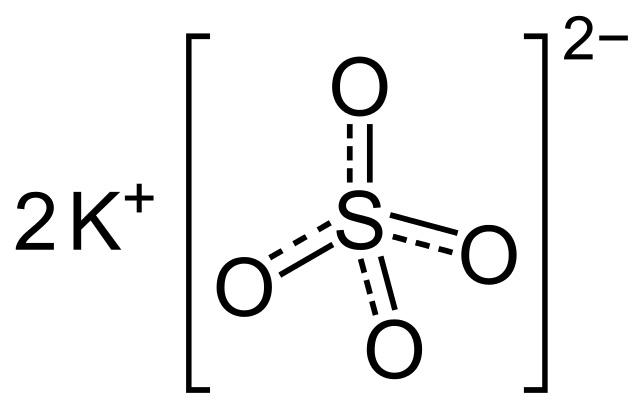 formula del sulfato de potasio